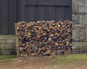 Firewood can harbor overwintering pests.