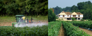 Fig. 3. Foliar insecticide applications can become a source of conflict when urban and suburban areas interfaces with agriculture. (Photo: Steve Schoof)